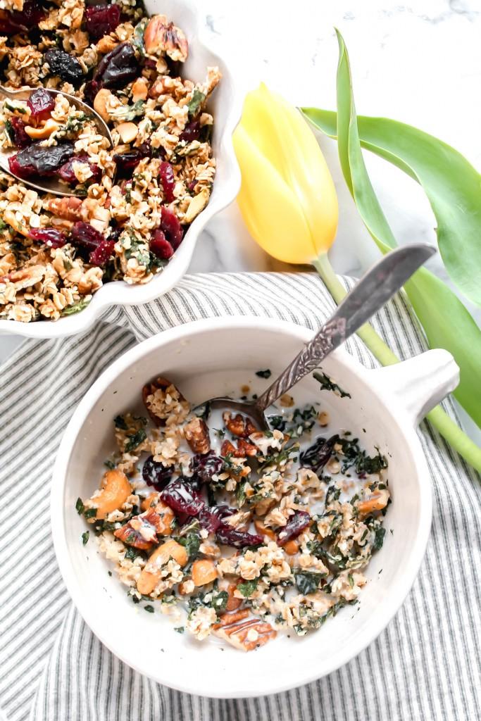 Healthy Kale Granola recipe