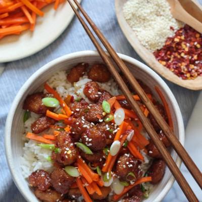 Firecracker Shrimp Rice Bowl