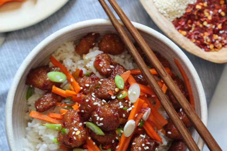Firecracker Shrimp Rice Bowl