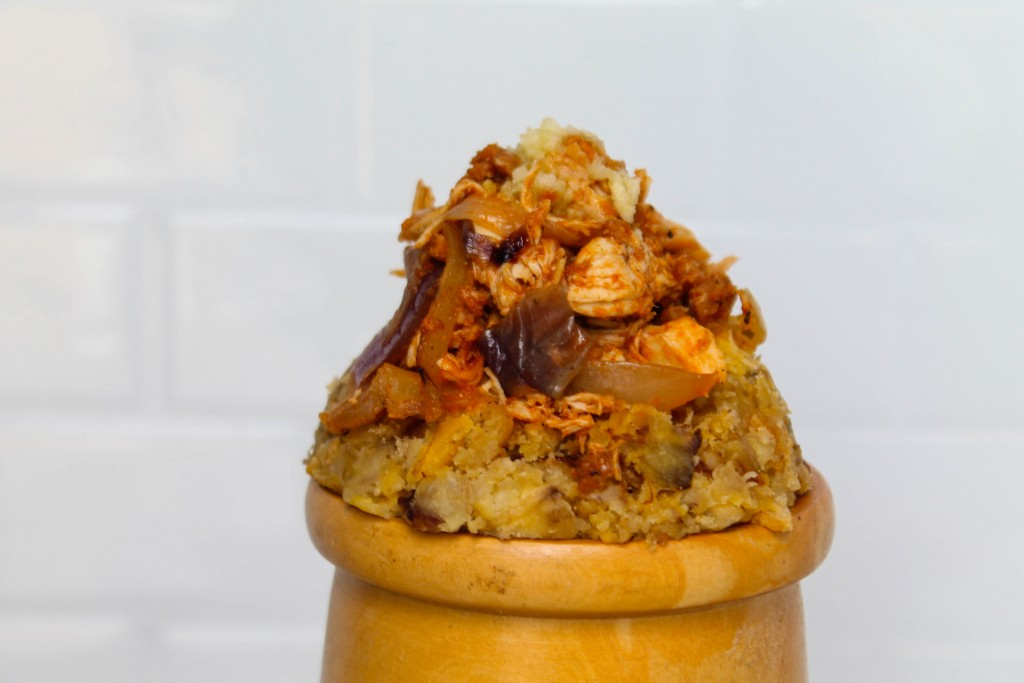 Caramelized Onion Chicken Mofongo-6