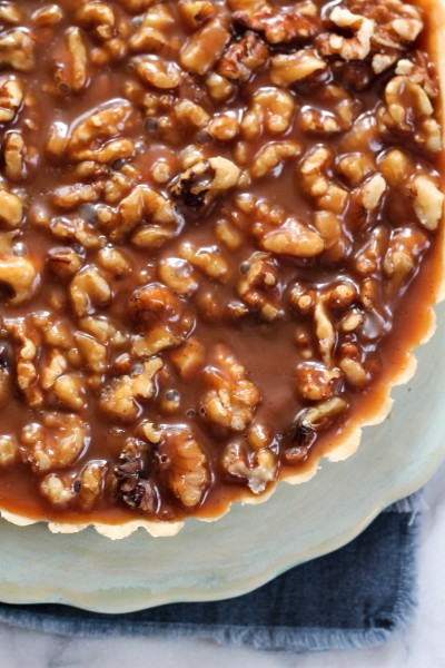 Walnut Salted Caramel Tart