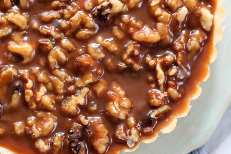 Walnut Salted Caramel Tart