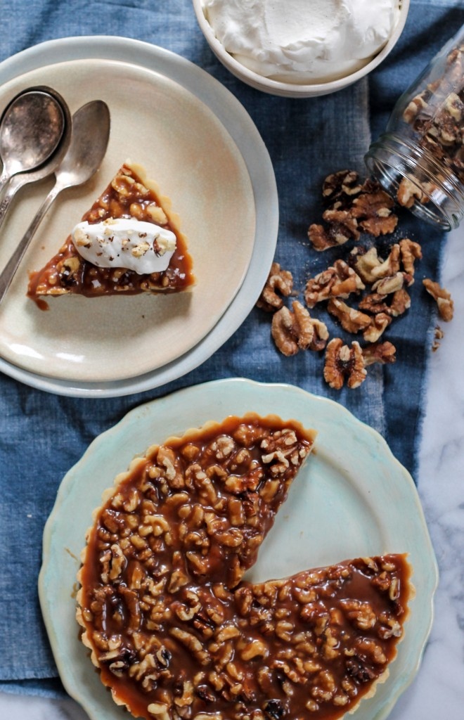 Walnut Salted Caramel Tart-9