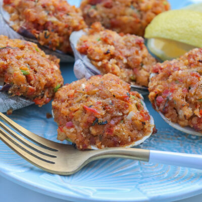 New England Style Baked Stuffed Clams