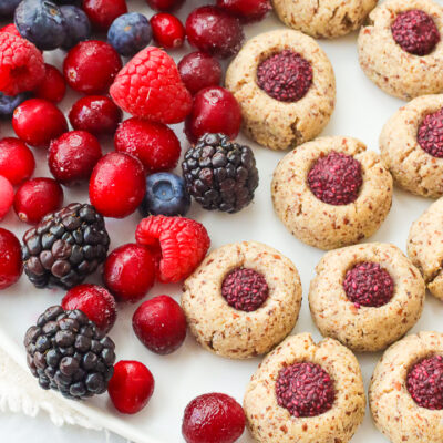 Almond Berry Thumbprint Cookies