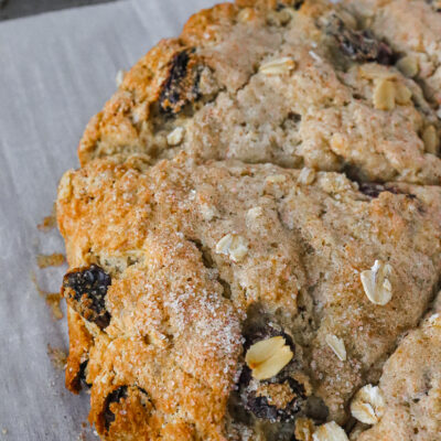 Dried Cherry and Oat Scones