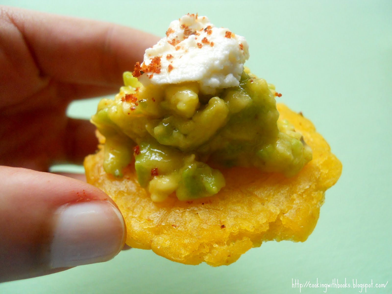 """Fried Green Plantains: """"Tostones"""" - Cooking with Books"""